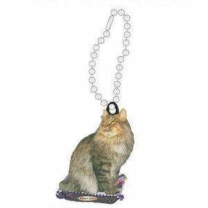 a Keyring with a cat Nebelung Cat Art Dog Ltd